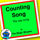 English Counting 1-10 Song 1 for ESL, EFL, Kindergarten. S
