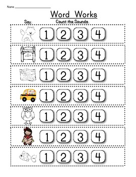 Counting Sounds & Making Words Pack: Differentiated Instruction