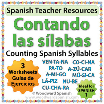 Counting Spanish Syllables Worksheets Contando Las Slabas Tpt