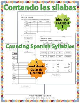Counting Spanish Syllables Worksheets - Contando las sílabas