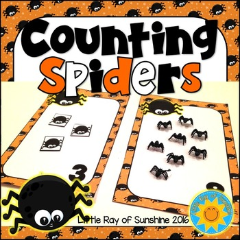 Halloween Counting Spiders