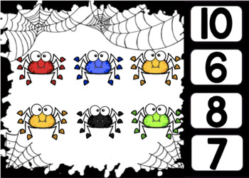 Counting Spiders: BOOM CARDS