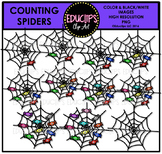 Counting Spiders Clip Art Bundle  {Educlips Clipart}