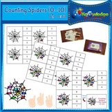 Counting Spiders Clip Cards (0-10)