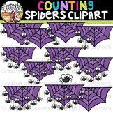 Counting Spiders Clipart {Halloween Clipart}