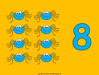 Counting Spiders - Counting Numbers 6 to 10