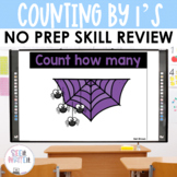 Counting Spiders - Counting by 1's See it Write it