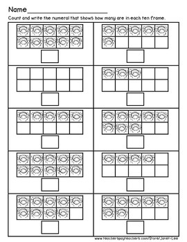 Counting Spiders Math Worksheet