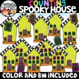 Counting Spooky House Clipart {Halloween Clipart}