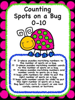 Counting Spots on a Bug - Summer Counting Fun 0-10