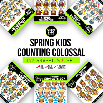 Counting Spring Kids Clip Arts COLOSSAL Bundle ($18 value)