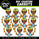 Spring Counting Kids Clipart Bundle
