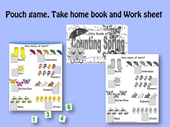 Counting Spring LITTLE INTERACTIVE BOOK:  Number recognition, counting