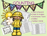 Counting Spring-Sets to 20, Decompose Teens, Graph and Analyze, Addition & MORE
