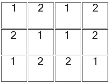 Counting Stamp Sheet Numbers 1 and 2