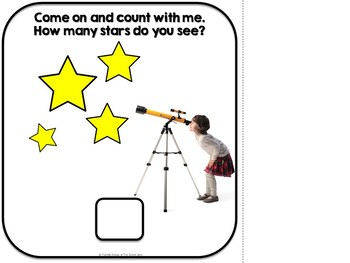 Counting Stars-- Adapted Interactive Book (Autism, Special Education)