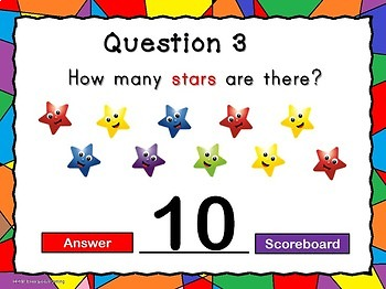 Counting Stars Teacher vs Student PPT Game