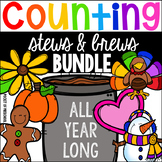 Counting Stews and Brews™️ BUNDLE Year Long for Preschool, Pre-K, & Kinder