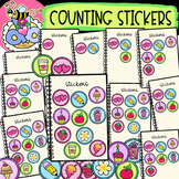 Counting Stickers: Back-to-School Clipart {DobiBee Designs}