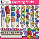 Counting Sticks Clip Art | Counting and Sorting Manipulatives for Math Centers