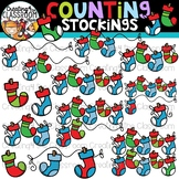 Counting Stockings Clipart {Christmas Clipart}