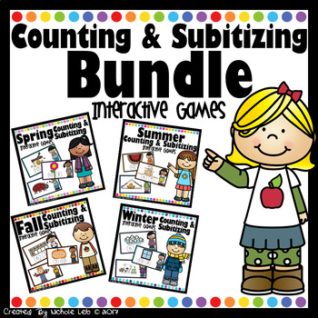 Counting & Subitizing Bundle - PowerPoint Games