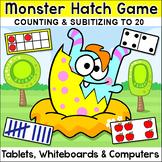 Counting & Subitizing Number Sense Game: Ten Frames, Tally