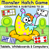 Monster Hatch Subitizing & Counting Game for Numbers 1-20