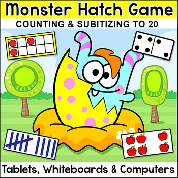 Counting & Subitizing Number Sense Game: Ten Frames, Tally