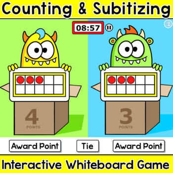 Counting & Subitizing Team Number Sense Game - Ten Frames,