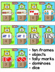 Counting & Subitizing Team Number Sense Game - Ten Frames, Dice, Tally Marks