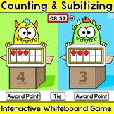 Subitizing & Counting Game for Numbers 0-20: Ten Frames, Tally Marks, Dice