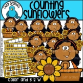 Counting Sunflowers Clip Art Set