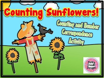 Counting Sunflowers! Number Correspondence Activity