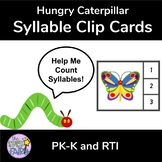 Counting Syllable Clip Cards - Hungry Caterpillar