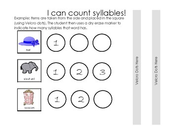 Counting Syllables (1-3 and 4-5 Syllables) Binder Game