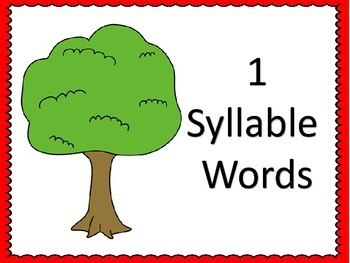 Counting Syllables--Apple Theme