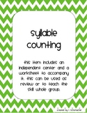 Counting Syllables Center