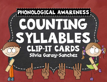 Counting Syllables Clip It Cards