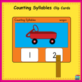Counting Syllables Clip Cards