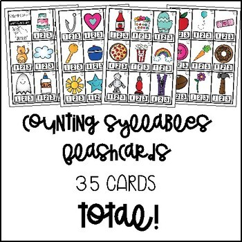 Counting Syllables Flashcards | Taskcards