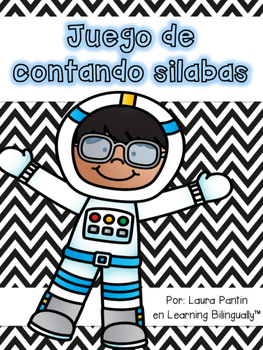 Counting Syllables Game in Spanish- Space Theme