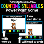 Counting Syllables Interactive PowerPoint Game