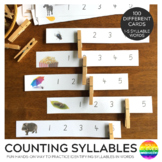 Counting Syllables Peg Clip Cards