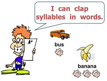Counting Syllables PowerPoint for Kindergarten Phonemic Awareness
