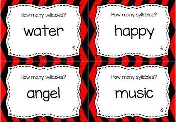 Phonological Awareness Task Cards - Syllables