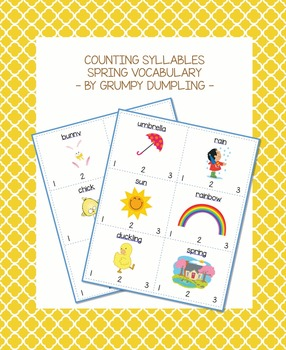 Counting Syllables - Spring Vocabulary {FREEBIE}