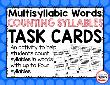 Counting Syllables Task Cards