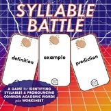 Multisyllabic Words Game and Worksheet for Speech Therapy