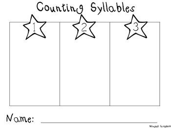 Counting Syllables or Contando Silabas {English and Spanish}